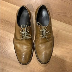 Cole Haan tan hand panted leather shoes size 8.5